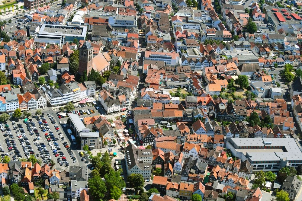 Aerial Image Bad Hersfeld Old Town Area And City Center In Bad