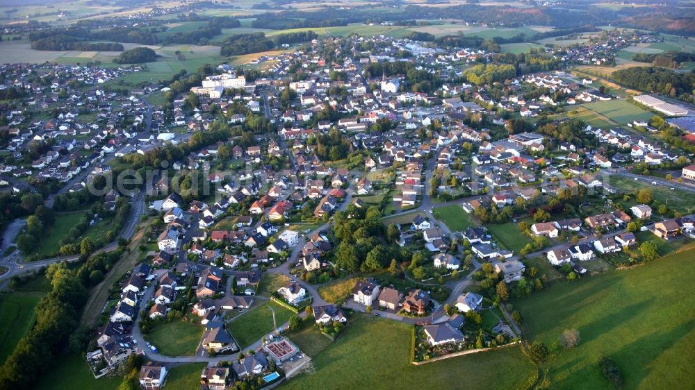 Asbach from the bird's eye view: View from Asbach in the state Rhineland-Palatinate, Germany