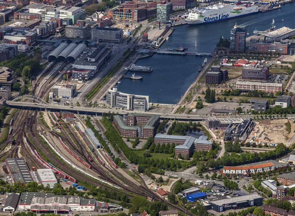 Aerial Photograph Kiel Railway Depot And Switching Tracks For
