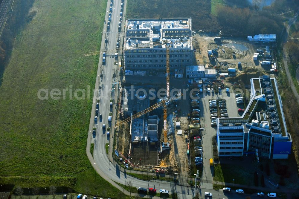 Aerial photograph Potsdam - Building site office building Am Muehlenberg in the district Golm in Potsdam in the state Brandenburg, Germany.