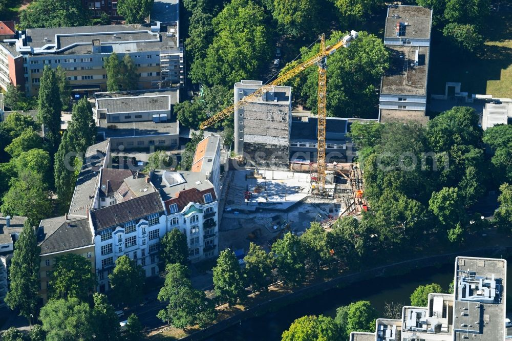 Berlin from above building site office building bureau