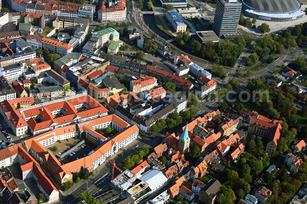 Aerial photograph Braunschweig - Building site office building Sportzentrum Gueldenstrasse in the district Innenstadt in Brunswick in the state Lower Saxony, Germany
