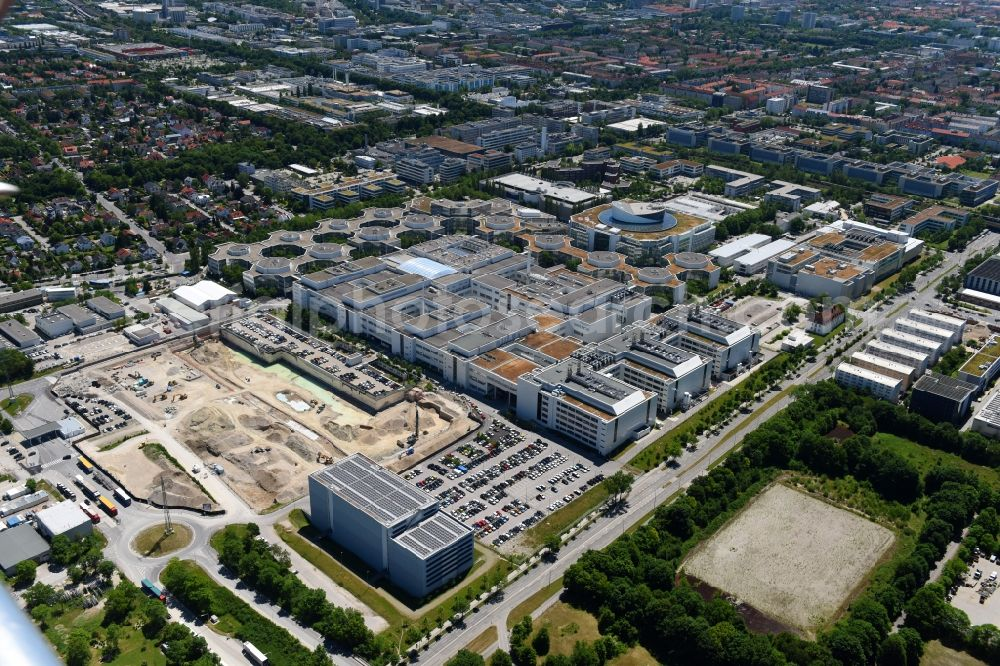 Aerial Photograph München Construction Site For The New Building