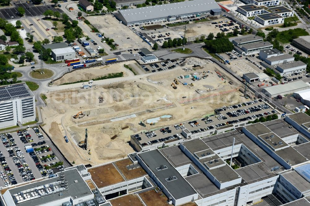 München From Above Construction Site For The New Building Of Fiz