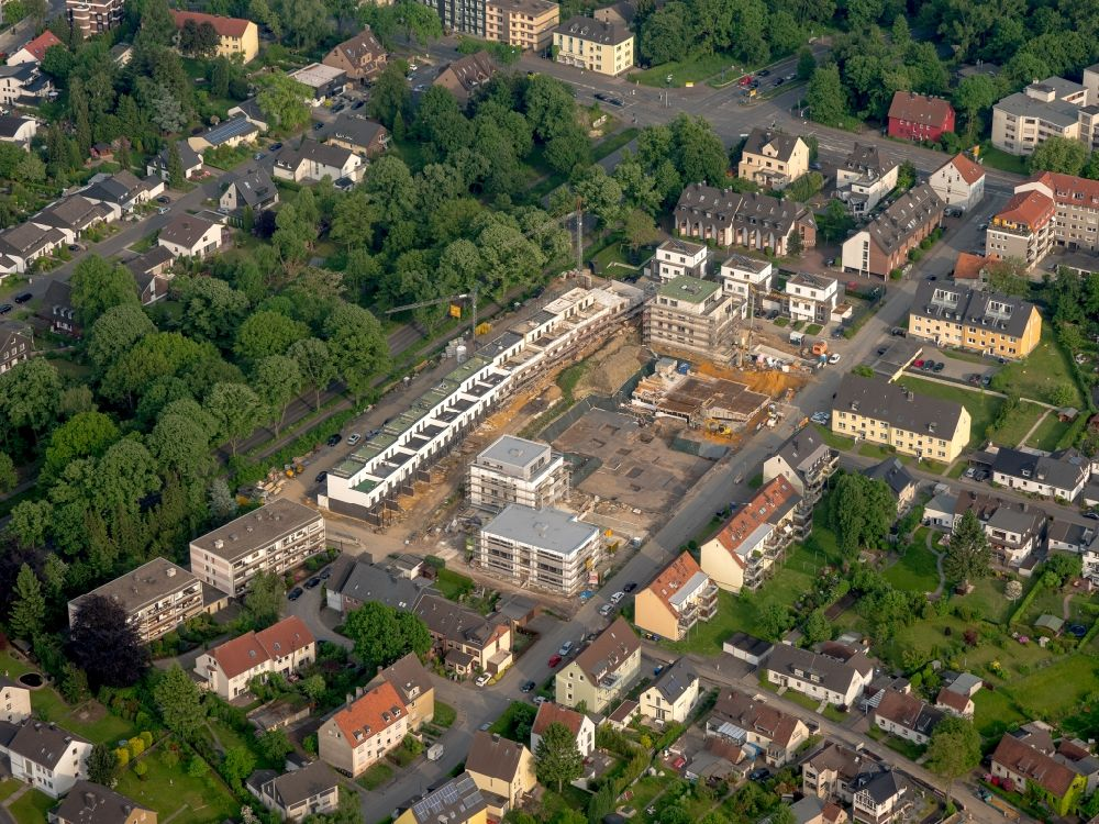 . Bochum from above   Construction site to build a new multi family