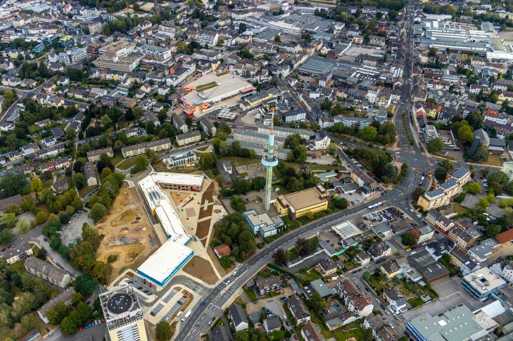 Aerial image Velbert - New construction site of the school building on Kastanienallee in Velbert in the state North Rhine-Westphalia, Germany