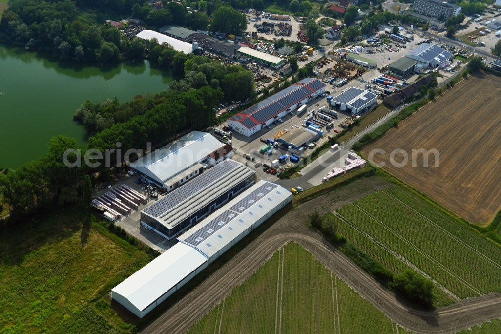Aerial photograph Mittenwalde - Depot with the headquarters of GAAC Commerz GmbH in the commercial area Mittenwalde in Brandenburg