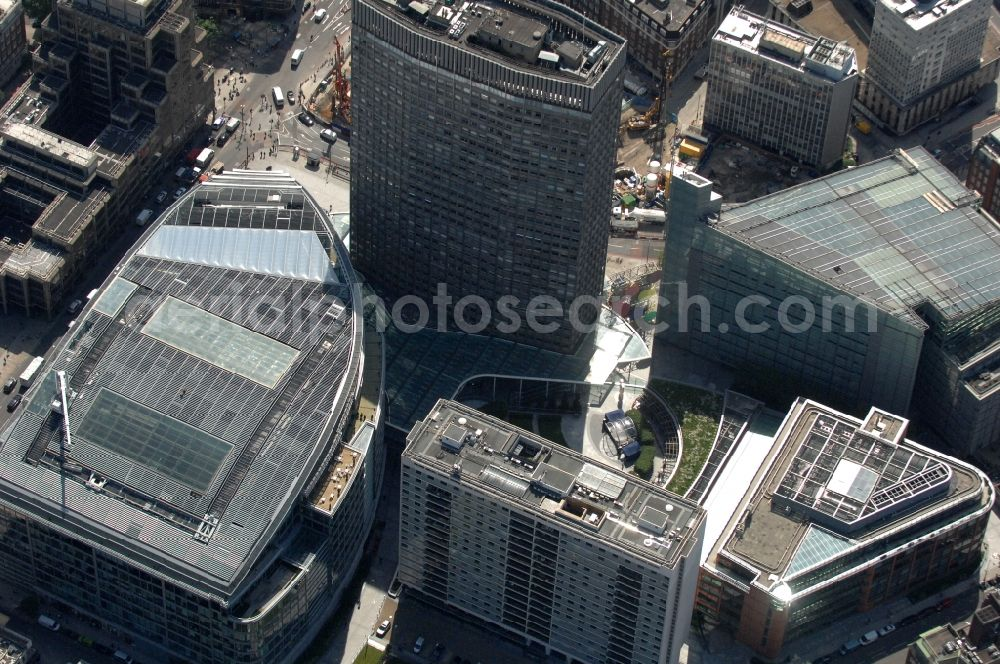 Aerial photograph London - View at the office and commercial complex Cardinal Place in the district City of Westminster in London in the county of Greater London in the UK. The complex consists of three buildings with over one million square meters. It was planned by the company EPR Architects and built by Sir Robert McAlpine
