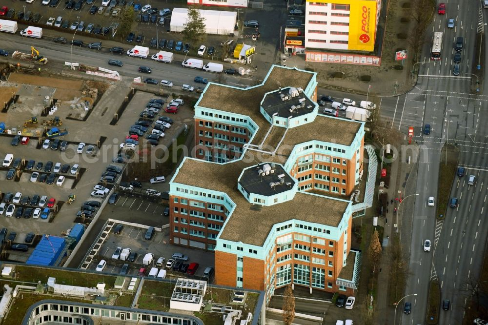 Hamburg from the bird's eye view: Office building Azur Plaza on Friedrich-Ebert-Donm in the district Wandsbek in Hamburg, Germany