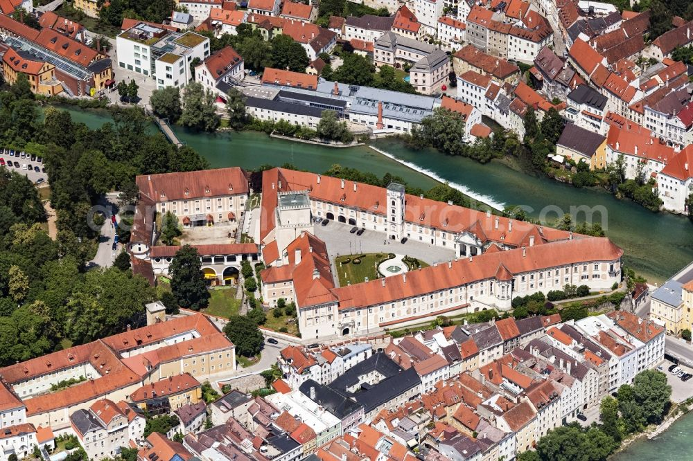 Steyr from the bird's eye view: Castle of Lamberg in Steyr in Oberoesterreich, Austria.