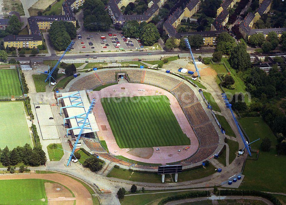 Aerial Image Rostock He Old Baltic Stadium Stadium F C Hansa Rostock E V