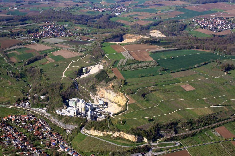 Efringen-Kirchen from the bird's eye view: The limestone