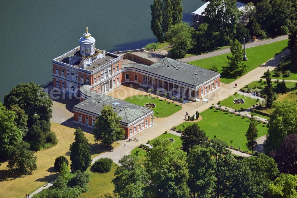 Aerial Photograph Potsdam The Marmorpalais Marble Palace On The
