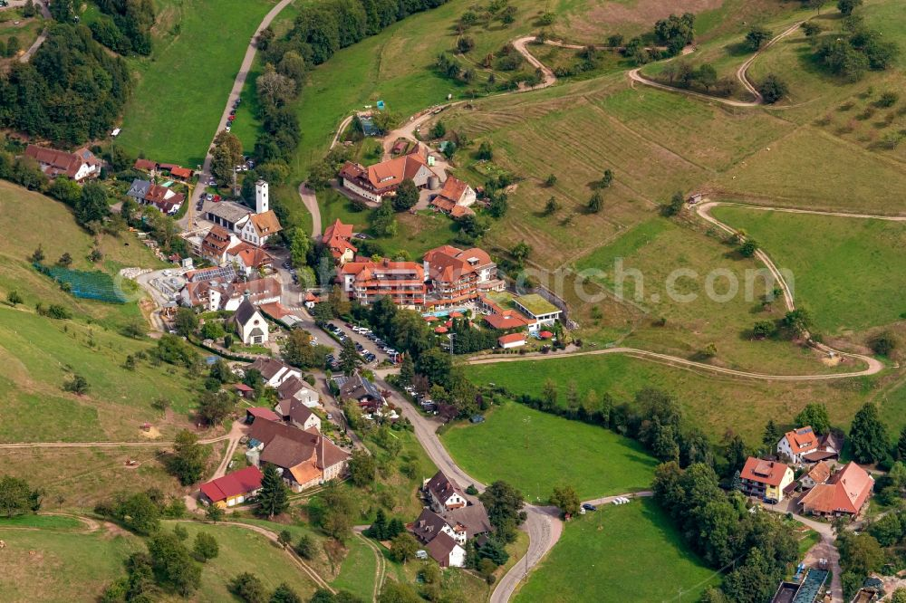 Brettental from the bird's eye view: Village view in Brettental in the state Baden-Wuerttemberg, Germany