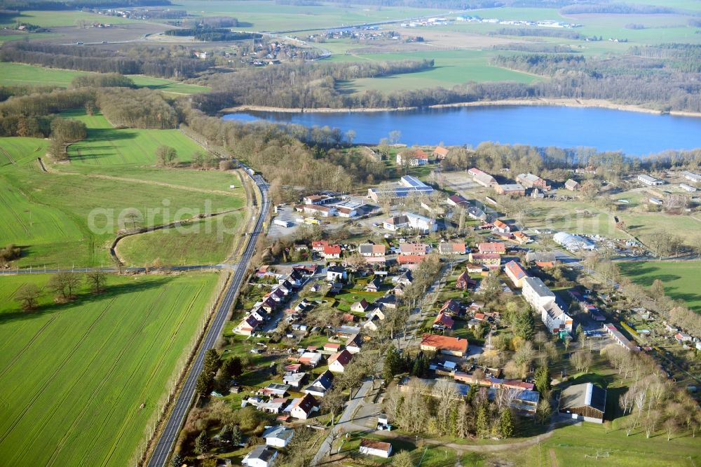 Aerial image Dambeck - Village view in Dambeck in the state Mecklenburg - Western Pomerania, Germany