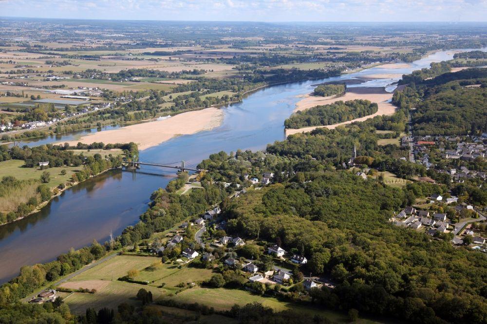 Aerial Photograph Gennes Val De Loire Village On The River Bank