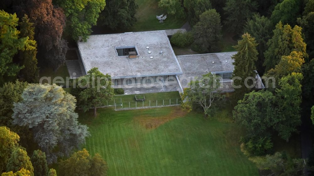 Aerial photograph Bonn - Former Chancellor's bungalow in Bonn in the state North Rhine-Westphalia, Germany
