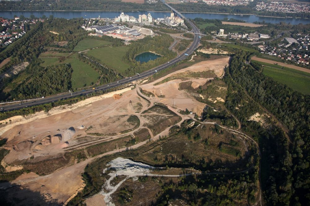 Mainz from the bird's eye view: Former sage stone quarry in