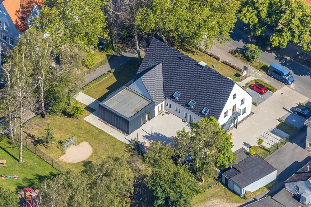 Aerial photograph Hamm - Single-family house along the Bockelweg in the district Heessen in Hamm in the state North Rhine-Westphalia, Germany