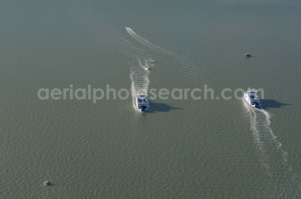 Aerial photograph Lymington - Ride a ferry ship Wight Sky of WIGHTLINK Lymington Ferry in England, United Kingdom