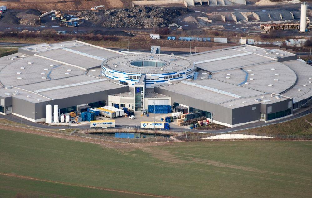 Aerial image Wilsdruff - Premises of the Eberspaecher GmbH