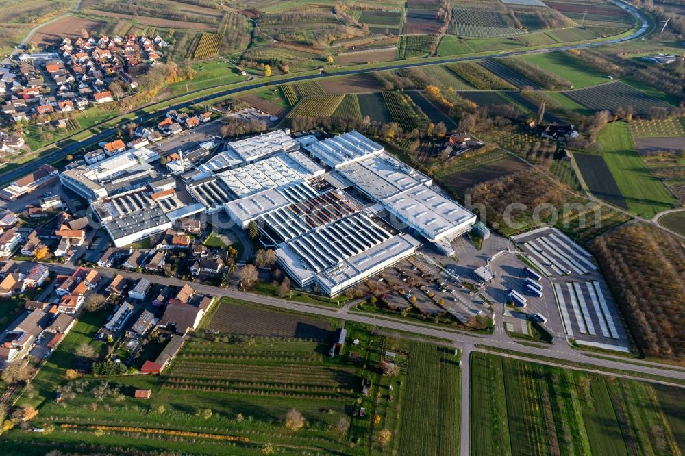 Aerial image Stadelhofen - Company grounds and facilities of Progress-Werk Oberkirch AG in Stadelhofen in the state Baden-Wurttemberg, Germany