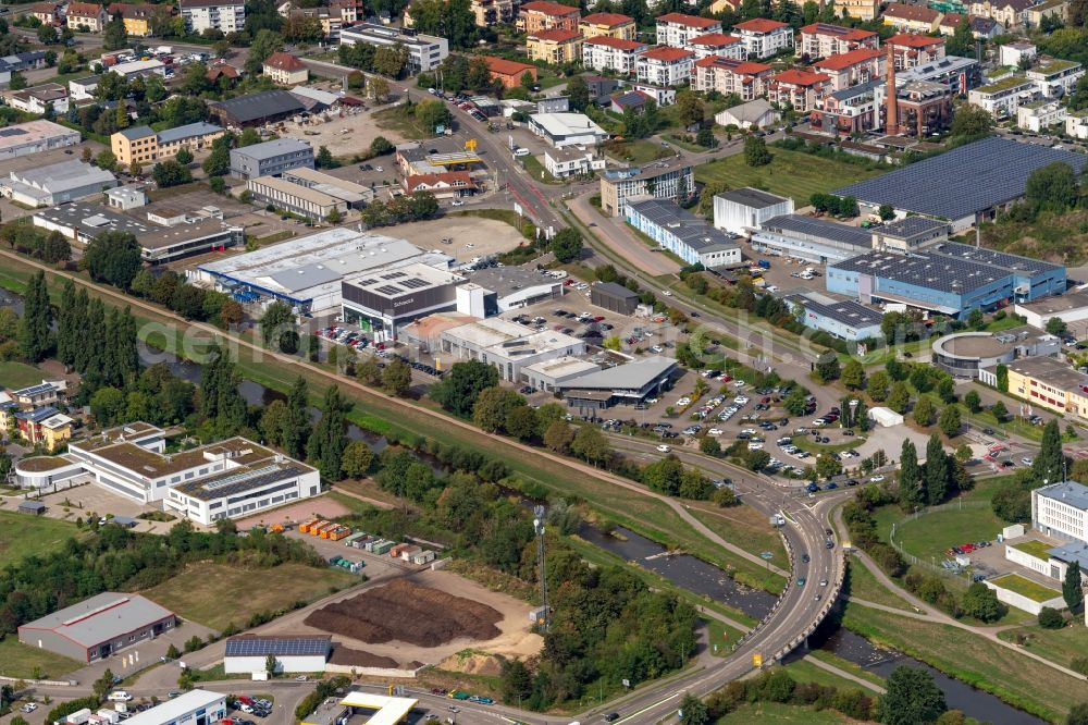 Aerial image Emmendingen - Company grounds and facilities of Schmolck GmbH & Co. KG - Mercedes-Benz PKW and Andere in Emmendingen in the state Baden-Wuerttemberg, Germany