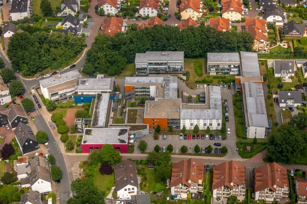 Aerial image Niederwenigern - Building the retirement home Altenzentrum Heidehof in Niederwenigern in the state North Rhine-Westphalia, Germany. Further information at: Diakonie Mark-Ruhr gemeinnuetzige GmbH.