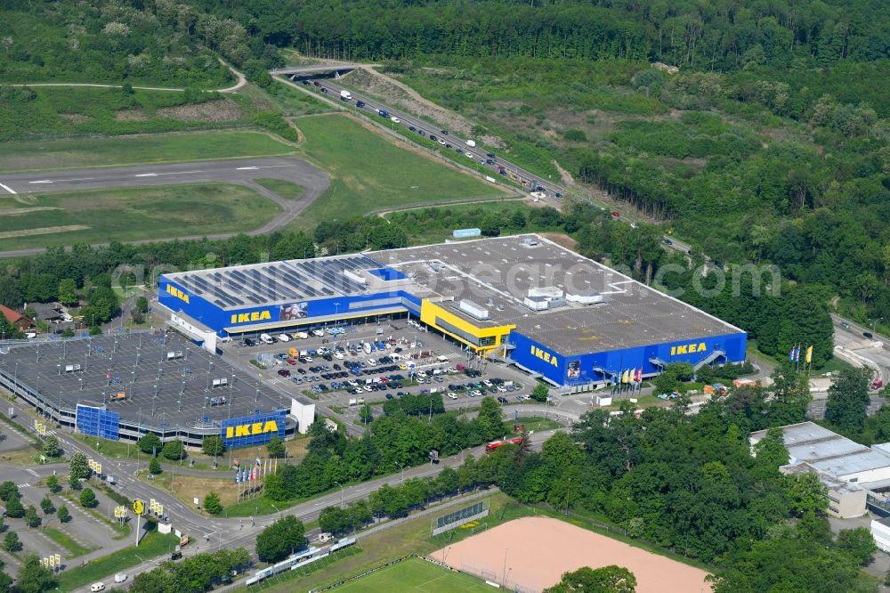 Aerial Photograph Freiburg Im Breisgau Building Of The Store