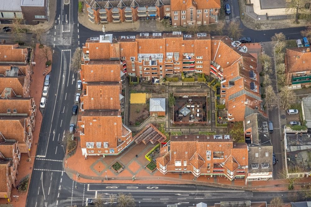 Aerial photograph Hamm - Building of a multi-family residential building on Antonistrasse - Ecke Oststrasse in Hamm at Ruhrgebiet in the state North Rhine-Westphalia, Germany