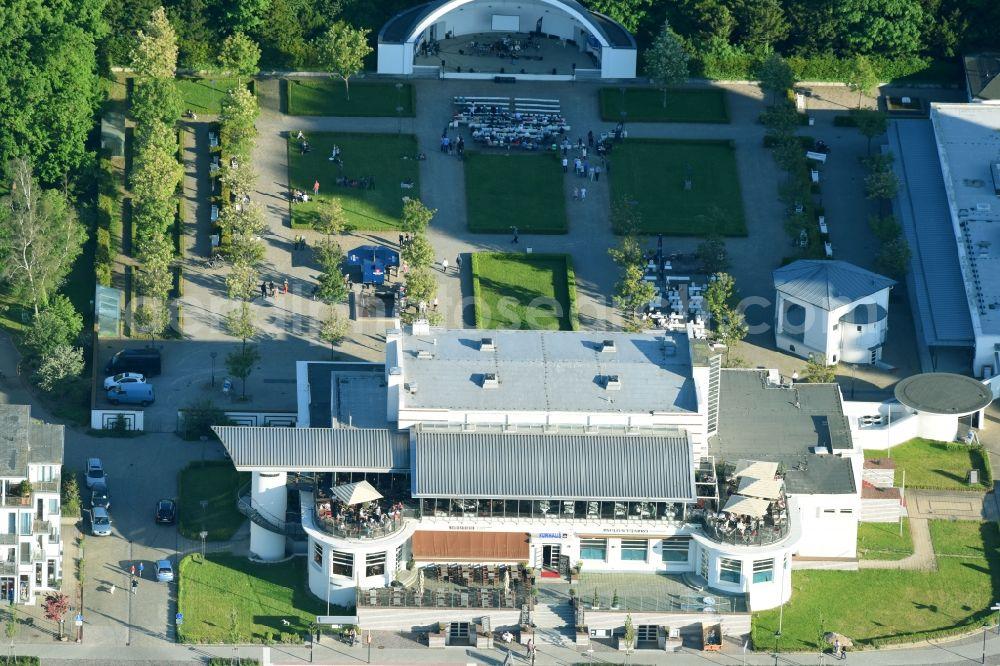 Aerial image Ortsamt 1 - Building of the restaurant health resort ...