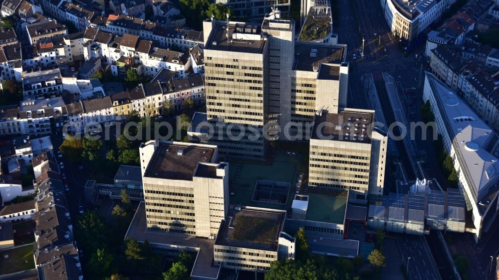 Aerial image Bonn - Town Hall building of the city administration Stadthaus in the district Nordstadt in Bonn in the state North Rhine-Westphalia, Germany