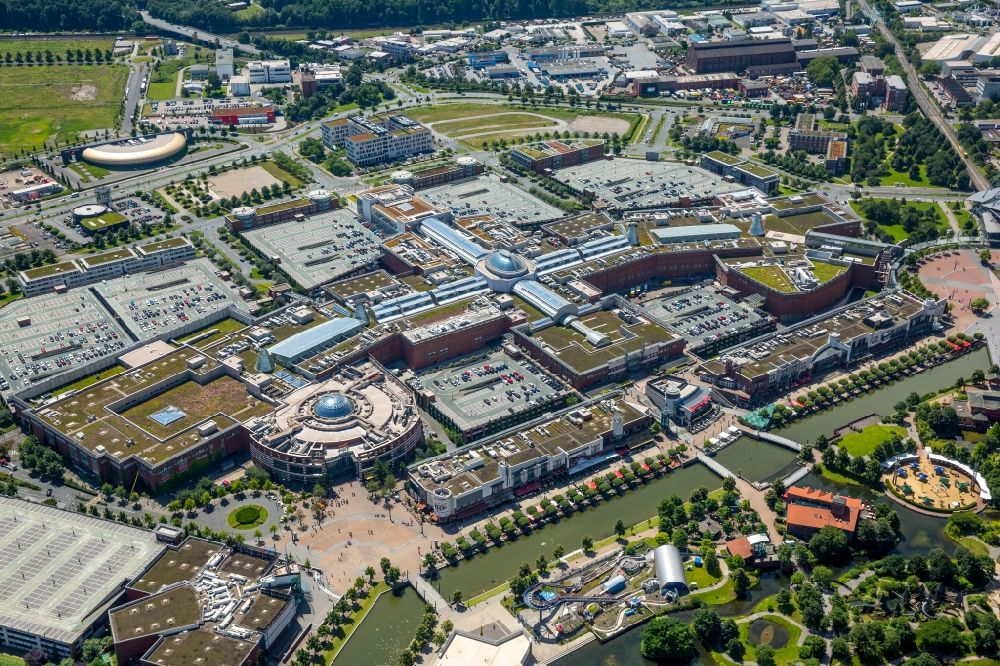 4962608e8f47 Aerial image Oberhausen - Building complex of the shopping mall ...