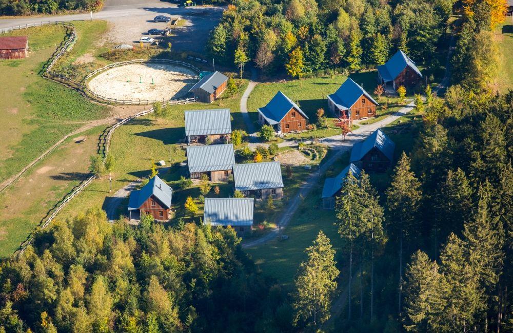 Schmallenberg From Above Hotel Building Mountain Village Liebesgruen At The Lenninghof In State