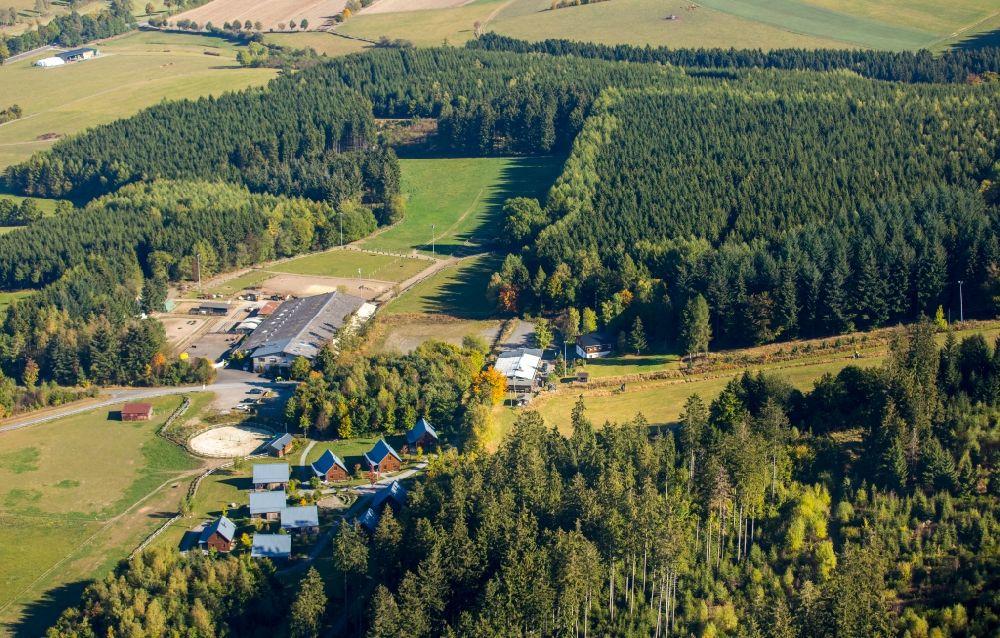 Aerial Image Schmallenberg Hotel Building Mountain Village Liebesgruen At The Lenninghof In State