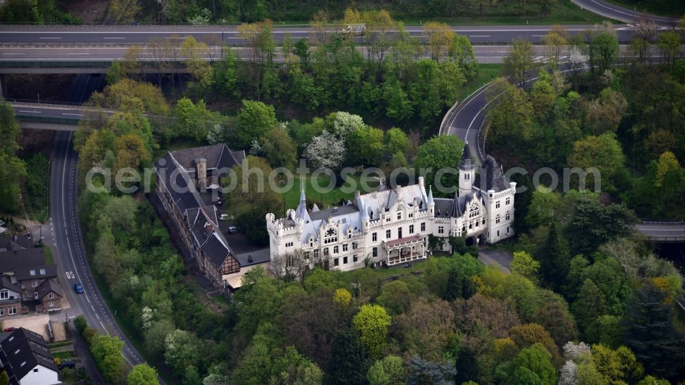 Aerial photograph Bonn - Complex of the hotel building Schlosshotel Kommende Ramersdorf in the district Ramersdorf in Bonn in the state North Rhine-Westphalia, Germany.