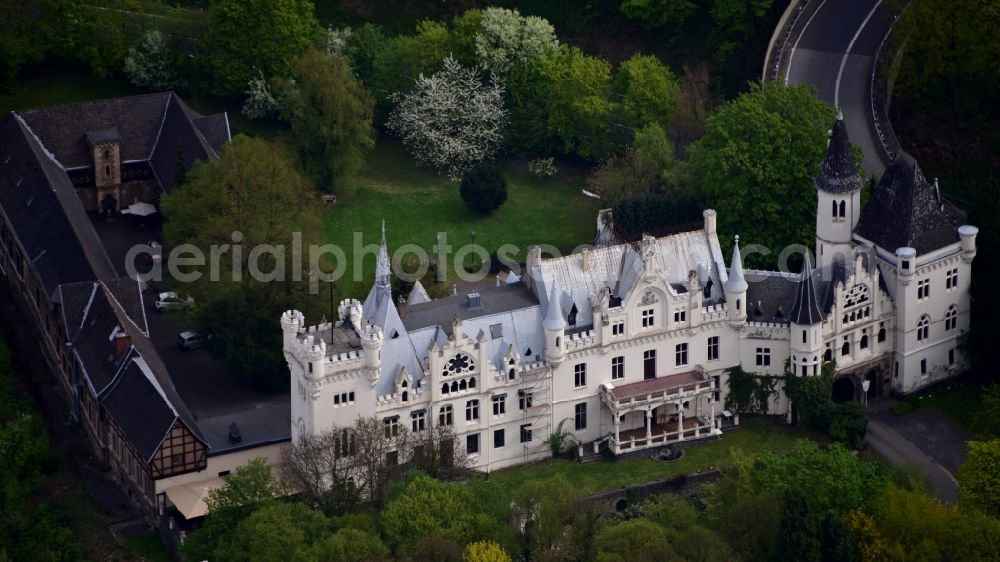 Bonn from the bird's eye view: Complex of the hotel building Schlosshotel Kommende Ramersdorf in the district Ramersdorf in Bonn in the state North Rhine-Westphalia, Germany