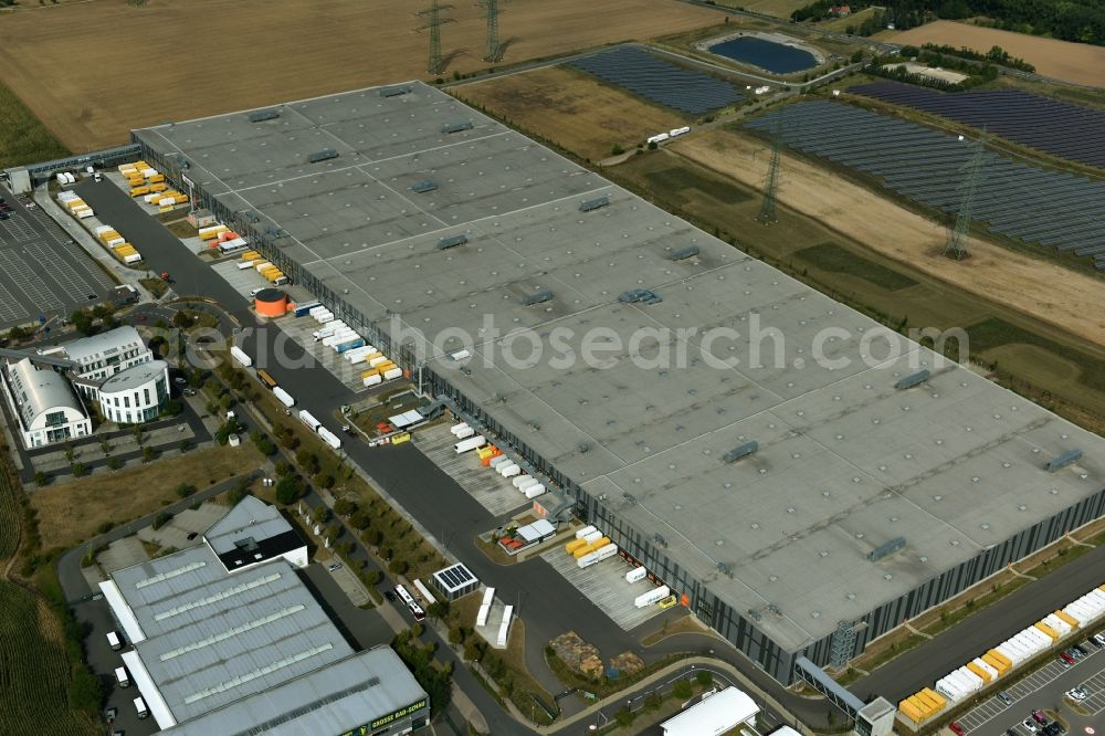 5914cd63da3 Erfurt from above - Building complex and distribution center on the site of  Zalando Logistics SE ...