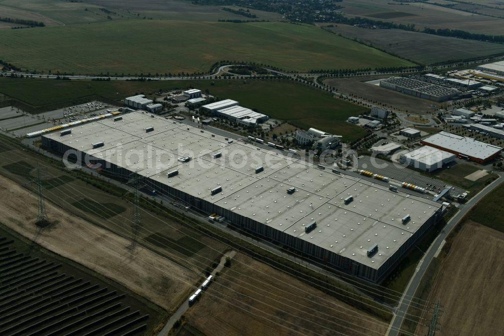 c1f618e89b7 Aerial image Erfurt - Building complex and distribution center on the site  of Zalando Logistics SE ...