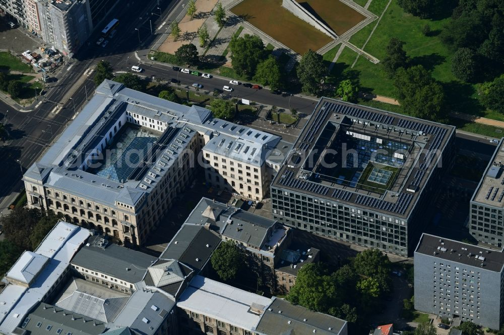 Berlin from above - Building complex of the Ministry Bandesministerium fuer Verkehr and digitale Infrastruktur on Invalidenstrasse in the district Mitte in Berlin, Germany