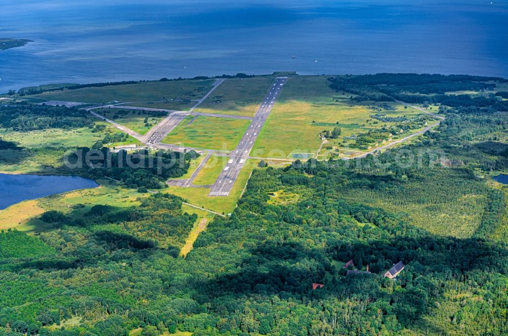 Aerial photograph Peenemünde - Site of the airfield Peenemunde on the Baltic coast of the island of Usedom in Mecklenburg-Western Pomerania