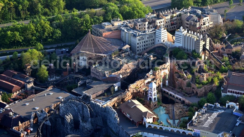 Aerial photograph Brühl - Grounds of the Phantasialand theme park in Bruehl in the Rhineland in the state of North Rhine-Westphalia