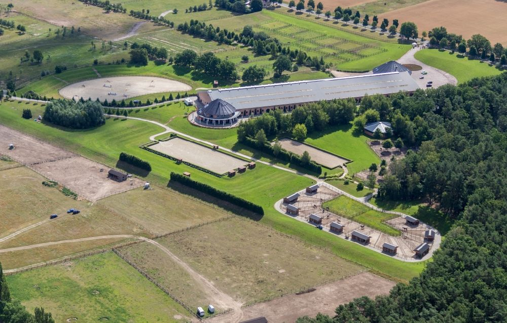 Aerial image Werder (Havel) - Animal breeding equipment, Livestock breeding for in Werder (Havel) in the state Brandenburg, Germany