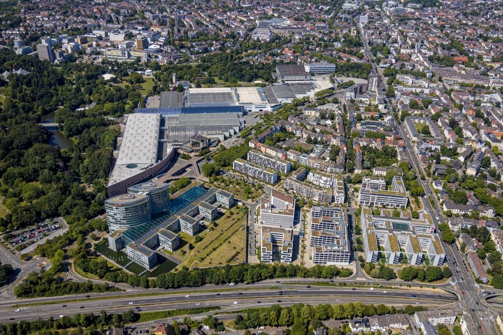 Essen from above - Main administration building of E.ON Ruhrgas AG in the district Ruettenscheid in Essen in the federal state North Rhine-Westphalia