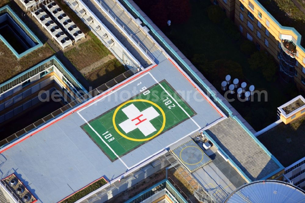 Berlin from above - Accident hospital Berlin Marzahn with a