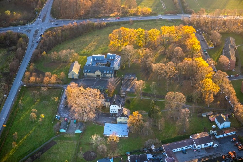 Werl from above - Aerial view of the buildings of the Kinderhilfe und Jugendhilfe Westuffeln in Werl in the state of North Rhine-Westphalia, Germany