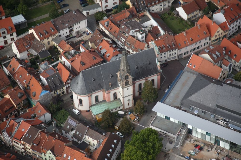 Aerial photograph Aschaffenburg - Church of Our Lady, Mother