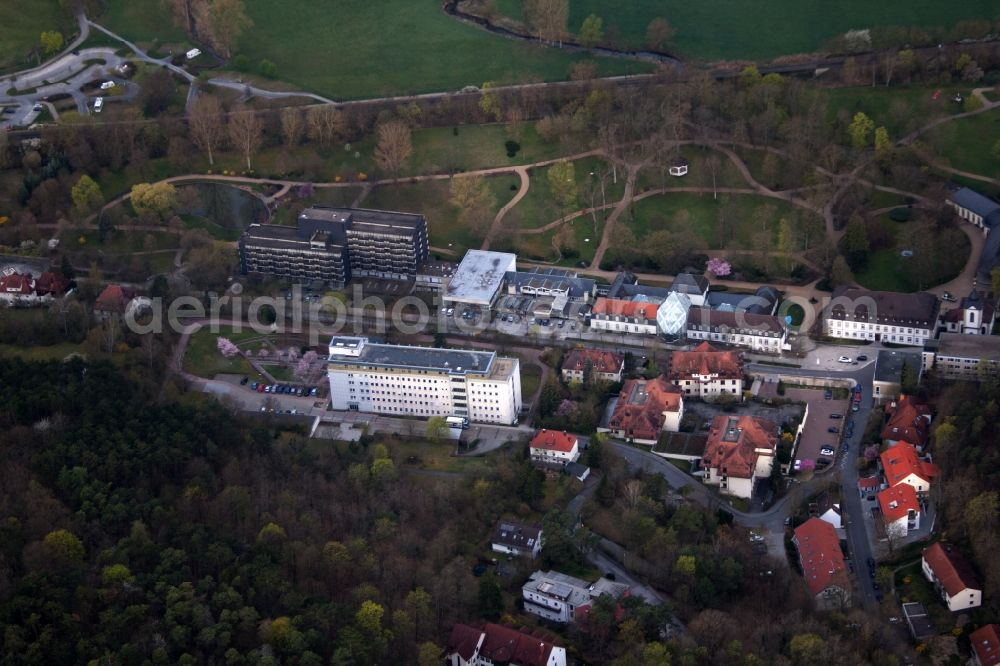 Aerial Photograph Bad Neustadt An Der Saale Hospital Grounds Of
