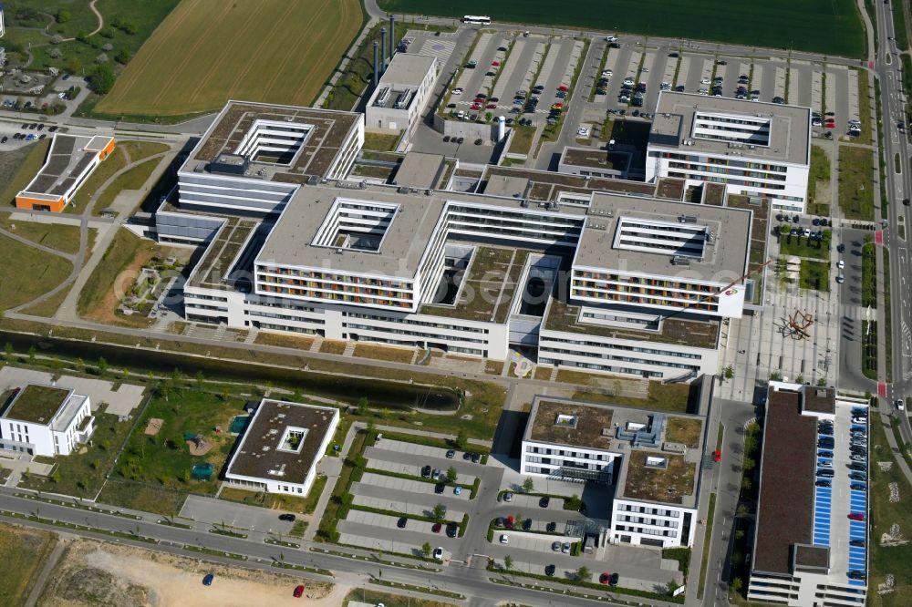Villingen-Schwenningen from the bird\'s eye view: Hospital grounds of ...
