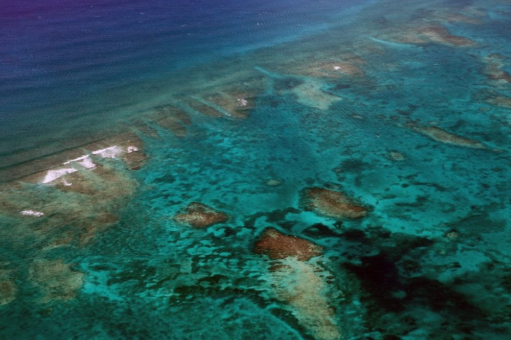 2eee1a7beba Cave Cay from above - Coastal Caribbean Pacific islands on the edge of the  North Atlantic Ocean ...
